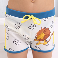 Nylon Boy Kids Swimming Trunks with swimming cap Cartoon white 5Sets/Lot Sold By Lot