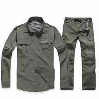 Chemical Fiber Men Sportswear Set breathable Pants   coat Solid
