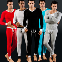 Modal Men Thermal Underwear Sets regular & thermal Solid Sold By Set