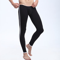 Spandex & Cotton Men Thermal Long Johns, different size for choice & skinny & breathable, Solid, more colors for choice, Sold By PC