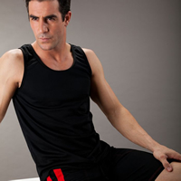 Polyester Men Athletic Tank breathable patchwork Sold By PC