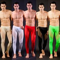 Nylon Men Leggings regular   breathable Solid