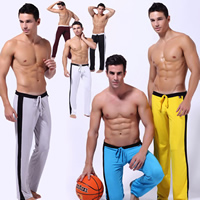 Spandex   Polyester Men Sports Pants regular   breathable Solid Sold By PC
