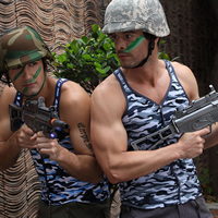 Modal Men Athletic Tank breathable camouflage