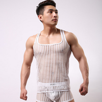 Spandex Men Athletic Tank breathable Solid Sold By PC