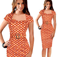 Polyester Sexy Package Hip Dresses different styles for choice   above knee