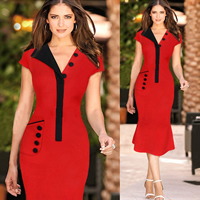 Polyester   Cotton One-piece Dress different styles for choice   knee-length Sold By PC