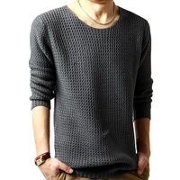 Woolen & Cotton Men Sweater, different size for choice & loose & thermal & breathable, Solid, more colors for choice, Sold By PC