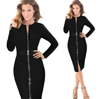 Polyester & Cotton One-piece Dress, different size for choice & above knee, different color and pattern for choice, Sold By PC