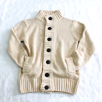 Woolen   Cotton Men Cardigan regular   thermal   breathable knitted Solid