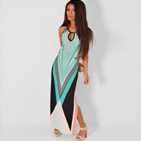 Spandex   Polyester One-piece Dress geometric