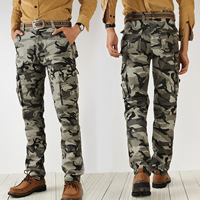 Cotton Middle Waist Men Casual Pants camouflage Sold By PC