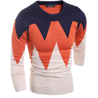 Woolen & Polyester Men Sweater, different size for choice & regular, knitted, patchwork, more colors for choice, Sold By PC