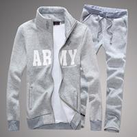 Cotton Men Sportswear Set Pants   coat printed letter Sold By Set