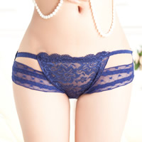 Lace & Cotton Hip-hugger Sexy Thong hollow & breathable jacquard heart pattern Size:Free Size 10PCs/Lot Sold By Lot