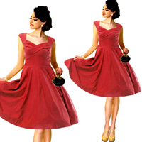Polyester One-piece Dress, different size for choice, different color and pattern for choice, Sold By PC