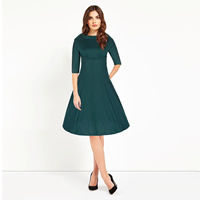 Polyester & Cotton Autumn and Winter Dress, different size for choice, Solid, more colors for choice, Sold By Set