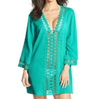 Chiffon   Polyester Swimming Cover Ups hollow Solid Size:Free Size