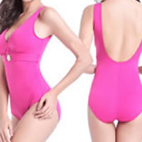 Spandex One-piece Swimsuit, different size for choice & hollow & breathable, Solid, more colors for choice, 5PCs/Lot, Sold By Lot