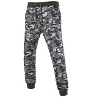 Cotton Middle Waist Men Sports Pants breathable camouflage army green Sold By PC