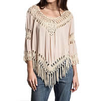 Line   Polyester Miracle Tassel Swimming Cover Ups hollow   breathable Solid Size:Free Size Sold By PC