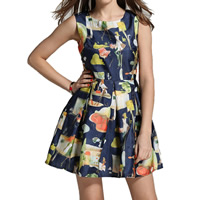 Nylon & Cotton One-piece Dress printed character pattern Sold By PC