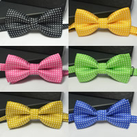 Polyester Boy Bow Tie, dot, more colors for choice, Size:Free Size, Sold By PC