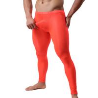 Gauze   Lace Men Abdomen Drawing Capri Pants transparent Solid