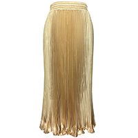 Imitation Silk Pleated Skirt Solid Sold By PC