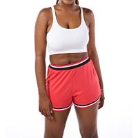 Polyester & Cotton Women Sportswear Set, different size for choice, tank top & Pants, printed, number pattern, red and white, Sold By Set