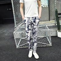 Polyester & Cotton Middle Waist Men Pencil Pants, different size for choice, printed, camouflage, more colors for choice, Sold By PC
