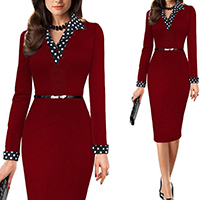 Polyester   Cotton Women Business Dress Suit printed patchwork Sold By PC