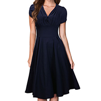 Spandex & Cotton One-piece Dress, different size for choice, Solid, more colors for choice, Sold By PC