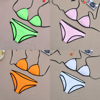 Spandex Bikini backless breathable patchwork Sold By Set