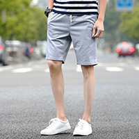 Polyester Middle Waist Men Capri Pants printed letter