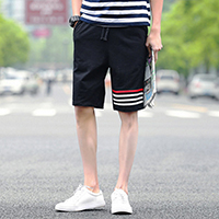 Polyester Middle Waist Men Capri Pants, different size for choice, printed, striped, more colors for choice, Sold By PC