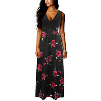 Polyester One-piece Dress, different size for choice & floor-length, printed, different color and pattern for choice, Sold By PC