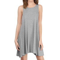Modal One-piece Dress Solid