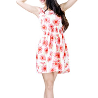 Chiffon One-piece Dress printed different color and pattern for choice Sold By PC