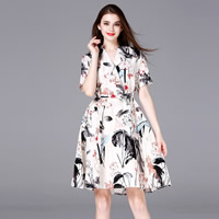 Cotton Fabric One-piece Dress, different size for choice, printed, different color and pattern for choice, Sold By PC