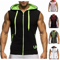 Polyester   Cotton Men Sweatshirts patchwork Sold By PC