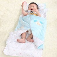 Cotton Baby Sleeping Bag, 0-3 years old, printed, Cartoon, pink, Sold By PC