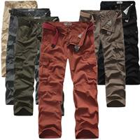Cotton Men Casual Pants loose Solid