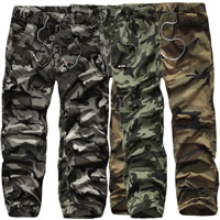 Cotton Men Casual Pants, different size for choice, printed, camouflage, more colors for choice, Sold By PC