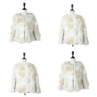 Fake Fur Women Coat patchwork white Sold By PC