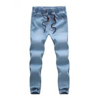 Denim Plus Size Men Jeans Solid