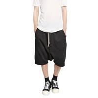 Cotton Men Capri Pants, different size for choice, Solid, black, Sold By PC