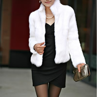 Fake Fur Plus Size Women Coat Solid Sold By PC