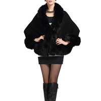 Fake Fur Cloak Women Coat patchwork Sold By PC