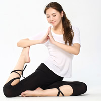 Polyester Women Yoga Pants, different size for choice & hollow, Solid, more colors for choice, Sold By PC